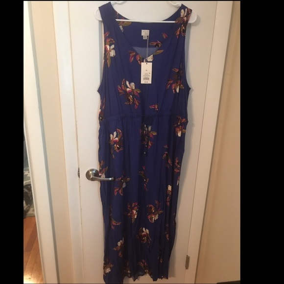 NWT blue floral plus size maxi dress from Target